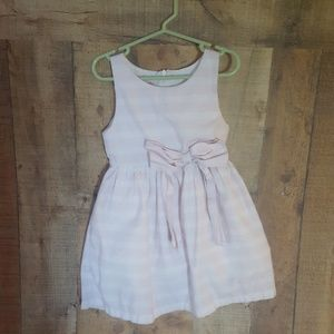 Size 5 Ruffle Butts pink and white dress with bow
